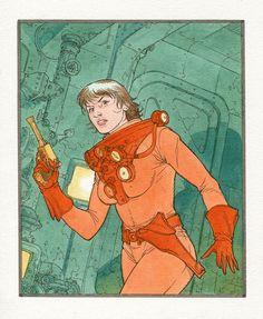 """Omaggio di Antonio Sarchione per """"The Shadow Planet"""", progetto Radium in crowdfunding. #scifi #comics #character #crowdfunding"""