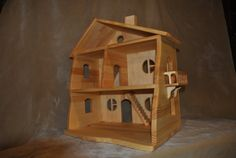 Handmade wooden dollhouse