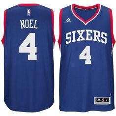 Mens Philadelphia 76ers Nerlens Noel adidas Royal Blue 2014-15 New Swingman Alternate Jersey $110