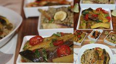 Aubergine, Baby Corn, & Potato in Coriander Gravy. Chitra's Healthy Kitchen.