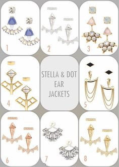 The latest new trend ear jackets!!! Get them here!! http://www.stelladot.com/sites/stacylepak