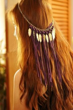 Boho Feathered Headpiece