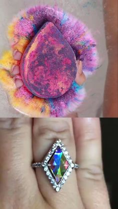 Unicorn Bath Bomb with Special Unicorn Ring Collection Hidden Inside! And... the chance to win a $10,000 diamond ring!
