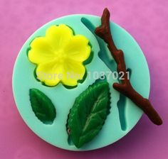 4Pcs/set 100% Food-grade 3D Silicone flowers and birds Shapes Cake Fondant Candy Chocolate Ice Cake Moulds Tools