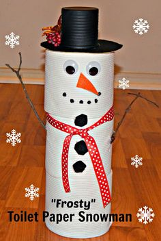 Toilet Paper Snowman Ideas easy craft to make at your next party.