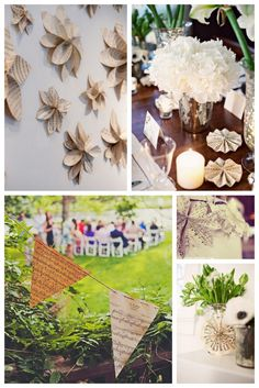 We love these sheet music wedding details, especially the wall of flowers – what a great photo backdrop! Sheet Music Decor, Sheet Music Wedding, Old Sheet Music, Vintage Sheet Music, Our Wedding, Dream Wedding, Wedding Ideas, Wedding Inspiration, Wedding Stuff