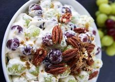 Grape Salad Recipes Cool Whip is One Of Beloved Salad Of Several Persons Across the World. Besides Easy to Create and Excellent Taste, This Grape Salad Recipes Cool Whip Also Healthy Indeed. Authentic Mexican Recipes, Mexican Food Recipes, Dessert Recipes, Desserts, Christmas Fruit Salad, Grape Salad, Tasty, Yummy Food, Xmas Food