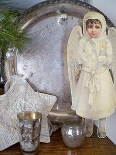 sweet white angel vignette