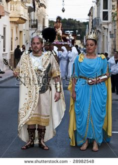 LUQA, MALTA - APR10 - Man dressed as Emperor or Caesar of the Roman Empire during the Good Friday procession in Malta April 10, 2009 by McCa...