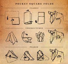 How to fold a Pocket Square  #pocketsquare #classic