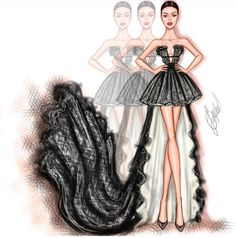 #VanityFairParty #Oscars2018 #HaileeSteinfeld @ldochev #FashionIllustrations |Be Inspirational ❥|Mz. Manerz: Being well dressed is a beautiful form of confidence, happiness & politeness