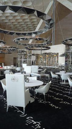 Alain Ducasse Idam Restaurant at Museum of Islamic Art, Qatar designed by Philippe Starck