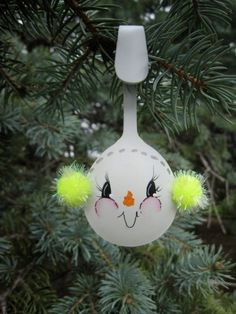 Hand Painted Snowman Spoon With Bright Yellow by YewtinselsNSilver, $8.00