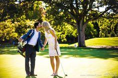Kissing engaged couple on golf course #Engagement #pictures #engagement #photos #engagementsession #wedding #photography #wedding #pictures #wedding #photos #Michiganwedding #Chicagowedding #MikeStaffProductions #weddingdj #wedding #photographer #wedding #videographer #wedding #planning