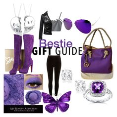 """""""Bestie Gift Guide 💜"""" by nlo0724 ❤ liked on Polyvore featuring Michael Kors, Christian Louboutin, River Island, WithChic, Chicnova Fashion, Annello, gift, purple, friends and Bestie"""
