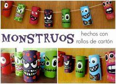 CREA CON ÁNGELA: MONSTRUOS  Hoy en nuestrasmanualidades para niño...