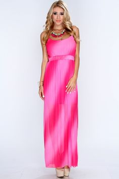 This maxi dress feels just right for your special occasion. With a floral headband and pale pink heels, this dress is a testament to your fashion flair. This dress features spaghetti straps, mini banded elastic empire waist, pleated sheer overlay, and slightly loose fitted for a more comfortable wear. 100% Polyester Made in U.S.A