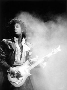 Prince, love the lighting, fog effects, and his look all caught at one moment in time...to see forever.
