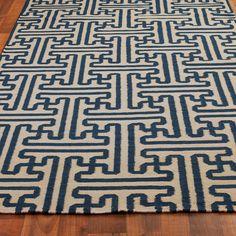 Grecian Maze Dhurrie Rug