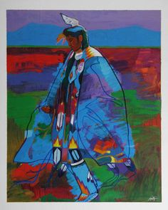 John Nieto - Dancer At Taos Pow Wow - hangs in my dining room and purchased in Santa Fe during my honeymoon.