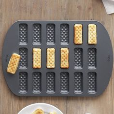 Waffle dipper sticks pan — it's OK to play with your food after all.