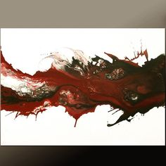 Abstract Canvas Art Painting 36x24 Original Modern Contemporary Paintings by Destiny Womack - dWo - Breaking