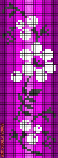 Rotated Alpha Pattern added by nicole_mae Loom Bracelet Patterns, Seed Bead Patterns, Bead Loom Bracelets, Friendship Bracelet Patterns, Beading Patterns, Cross Stitch Bookmarks, Cross Stitch Borders, Cross Stitch Patterns, Cross Stitch Designs
