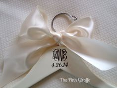 Monogrammed Wedding Dress Hangers make a great keepsake for bride and and a great gift for bridesmaids!