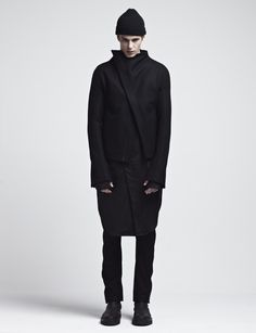 """asymmetrical wool jacket with coiled hand stitched finishing by JOE CHIA from the """"JOE CHIA Fall/Winter 2015"""" collection"""