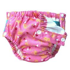 Charlie Banana Swim Nappy & Training Pants with Snaps Princesse (Medium only) Training Pants, Potty Training, Diaper Covers, Baby Princess, Kids Learning, Boho Shorts, Organic Cotton, Banana, Swimming