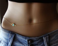 14K Gold plated Belly Chain Body jewelry Waist Chain gold