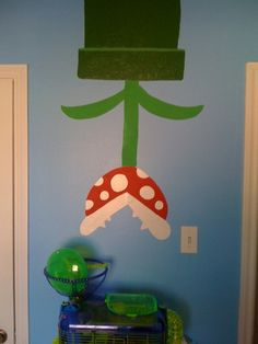 Super Mario Bedroom - but a tunnel from the ceiling with a hanging chomper lamp Super Mario Room, Super Mario Party, Big Boy Bedrooms, Kids Bedroom, Bedroom Ideas, Kid Rooms, Brothers Room, Casa Patio, Mario And Luigi