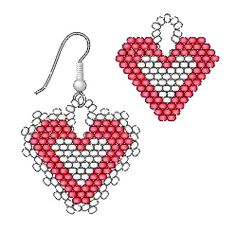Rings & Things Beaded Heart Earrings (brick stitch): Thank you soooo much.
