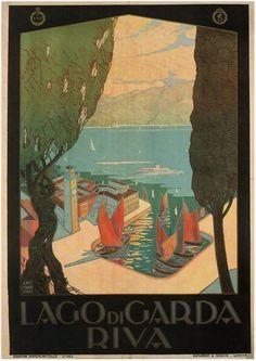 Vintage Italian Posters - Lago di Garda
