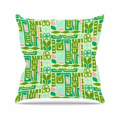 "East Urban Home Maze Amy Reber Vector Throw Pillow Size: 18"" H x 18"" W x 4"" D"