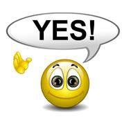 Smiley Saying Yes