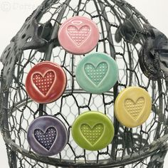 Handmade Decorative Items, Handmade Crafts, Earthenware Clay, Magnets, September, Pottery, Ceramics, Hanging Decorations, Bright