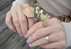 Rings by @Chloe + Isabel , Target and Forever21