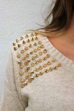 pointy studs on soft knits