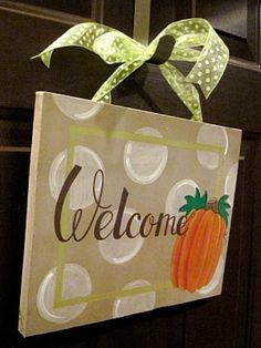 Pumpkin Fall Thanksgiving Halloween Canvas by dreamcustomartwork, $30.00