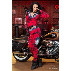 JACHETA DAMA XTREME TOP IN RED ARMY CU GLUGA - Morelli Design