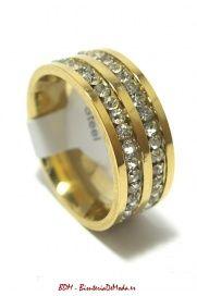 Nuevos anillos de acefro!! Este Anillo es de acero y brillantes - Doble - Visita nuestros modelos....