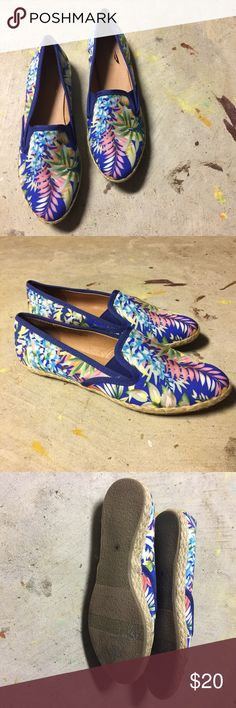 Blue Tropical Print Shoes Stinking cute! Wear these in the winter to perk yourself up or in the summer with shorts! Make me think of the tropics! I love offers. These have only been tried on and worn around my house and on my porch. Plume by Faryl Shoes