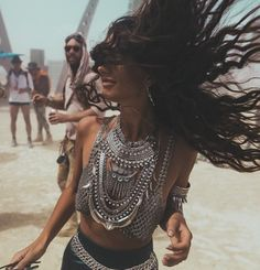 Christie Nicole chain bra. Totally acceptable as an entire outfit at Burning Man!