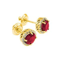 http://rubies.work/0026-blue-sapphire-earrings/ 0779-emerald-earrings/ Little Treasures – 14 ct Gold Diamond Ruby Earrings