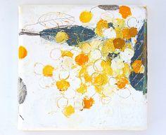 San'ji no oyatsu (2013) oil on canvas, tamamushi leaf, charcoal, ink, coloured pencil 230x230x30mm by mayakonakamura, via Flickr