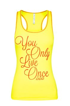 You Only Live Once Tank xx - I've recently had this light bulb moment, it's the reason I joined the gym, for the first time (ever!) as a 31 year old, it's my motivation inspiration -  #ljwishlist