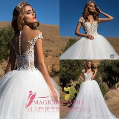 Lorenzo Rossi 2016 Ball Gown Wedding Dresses Short Sleeve Arabic Lace Appliques Wedding Dress Jewel Illusion Bodice Puffy Bridal Gowns Crystal Wedding Gowns Vintage Wedding Dresses Princess Bridal Gowns Online with 168.0/Piece on Magicdress2011's Store | DHgate.com