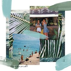 Looking forward to summer! Collage Design, Collage Art, New Foto, Web Design, Fanarts Anime, Photocollage, Fashion Collage, Grafik Design, Digital Collage