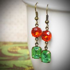 Pretty holiday earrings~